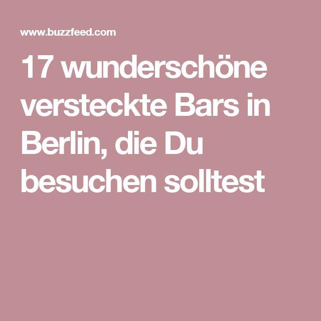 17 wunderschöne versteckte Bars in Berlin, die Du besuchen solltest