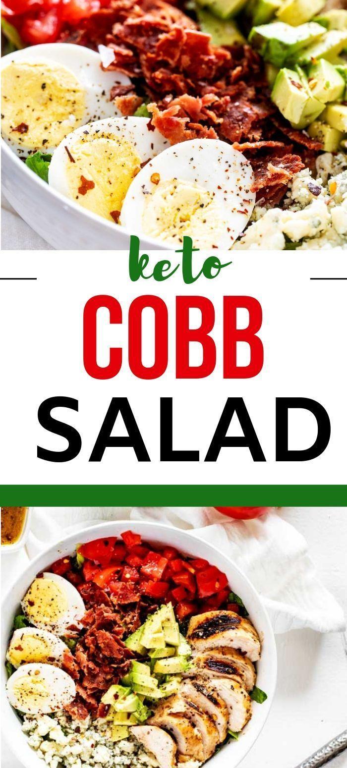 Dieser kohlenhydratarme Cobb-Salat mit gegrilltem Huhn ist das perfekte Mittagessen. Du gehst …   – Keto | Recipes | Lunch