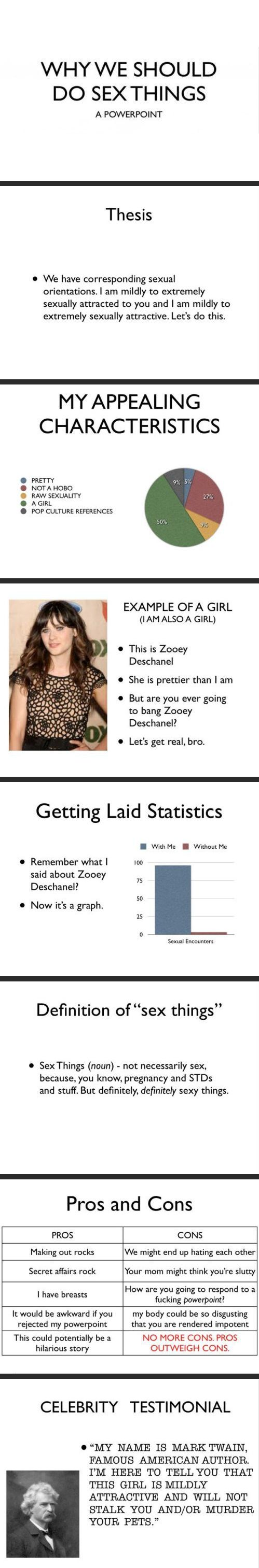 It's hard to argue with this girl's Powerpoint