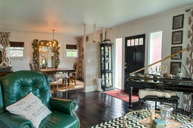 Eclectic Living & Dining Room