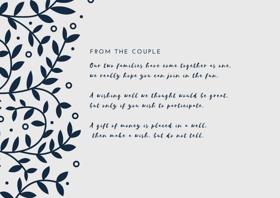 Wedding Invitation Cash Gift Wording: 17 Best Ideas About Wishing Well Poems On Pinterest