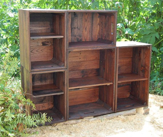 Best 25 apple crates ideas on pinterest wooden crates for Used apple crates