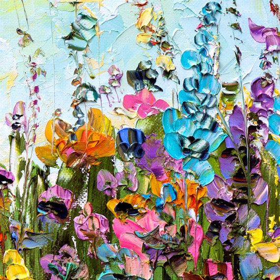 Large Oil Painting Landscape Abstract Landscape Impasto