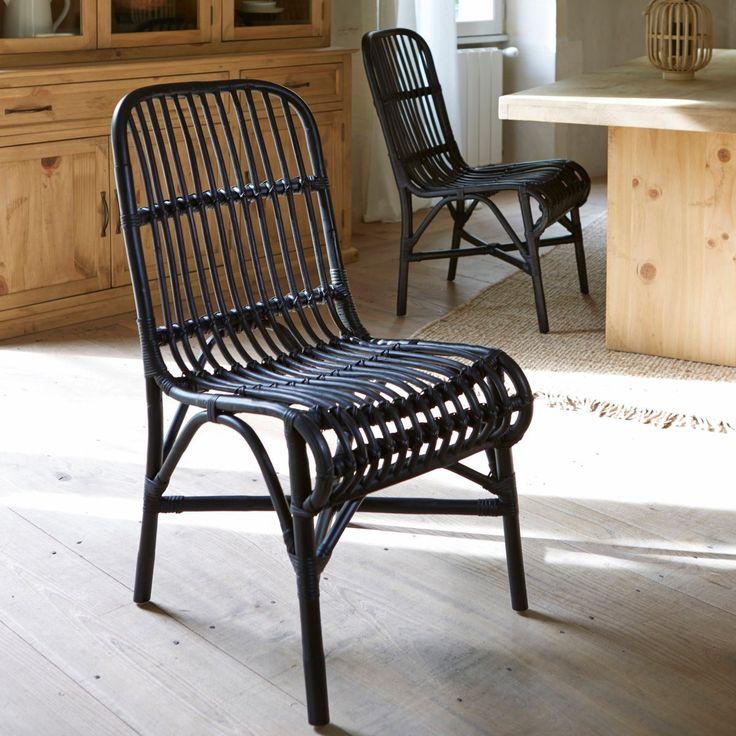 Lote de 2 cadeiras em cana de rotim, malu La Redoute Interieurs   La Redoute