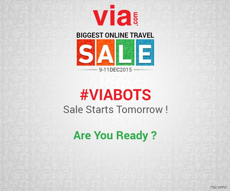 #VIABOTS Sale starts tomorrow