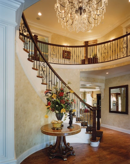 Grand Entry In This Large Colonial Home Colonial House