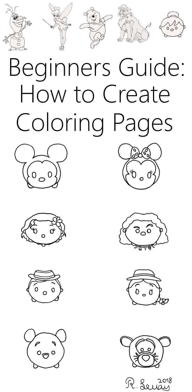 Create Your Own Coloring Pages With Or For Kids How To Draw