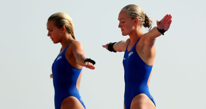 Tonia Couch and #Sarah Barrow target medal at Diving World Series event in #London
