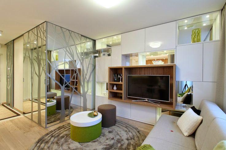 Дизайн однокомнатной квартиры: Тени деревьев в маленькой однушечке, 34 кв.м.