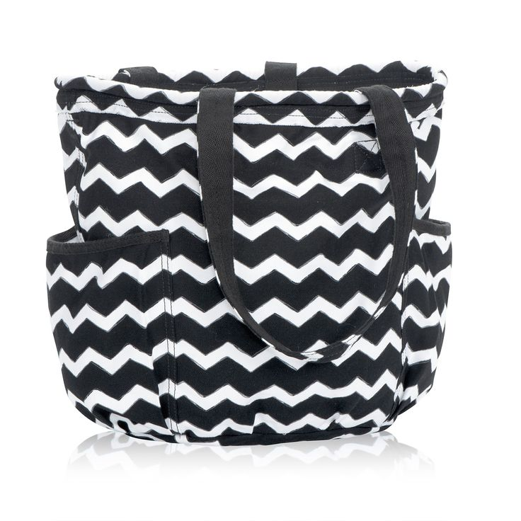Retro Metro Bag in Black Chevron for $55 - This everyday purse fits folders and notebooks in the main compartment, and the interior zipper pocket is sized just right. Two exterior pockets are perfect for your iPod, phone, camera, water bottle and more! Via @thirtyonegifts