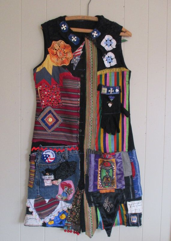 MyBonny - Journal Diary - Wearable Folk Art - Collage Clothing
