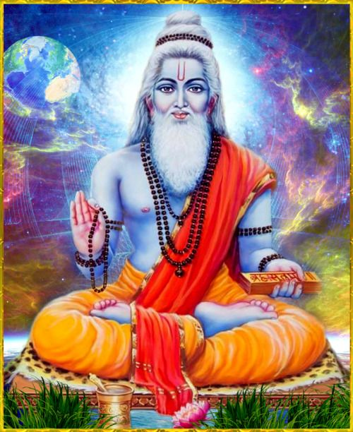 """☀ SRILA VYASADEVA ॐ ☀Artist: S.Murugakani Shri Krishna said:""""O greatly fortunate Uddhava, in the association of such saintly devotees there is constant discussion of Me, and those partaking in this chanting and hearing of My glories are certainly purified of all sins.""""~Srimad Bhagavatam 11.26.28"""