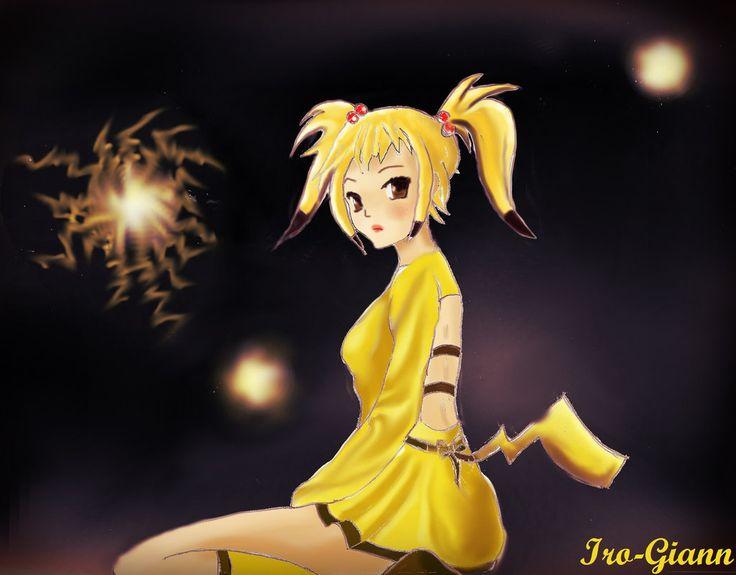 Pikachu Girl by Iro-Giann.deviantart.com on @DeviantArt