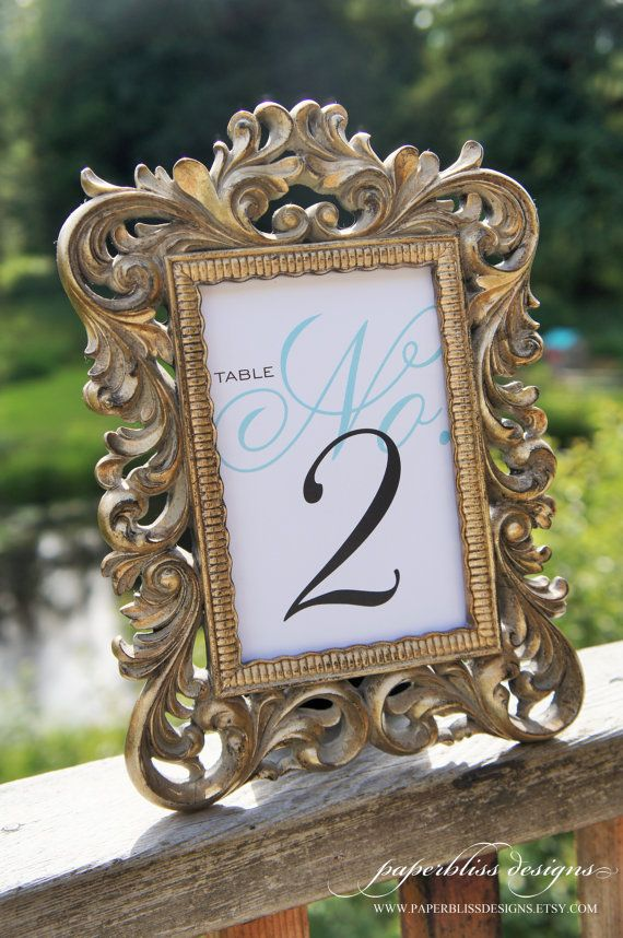 design these custom table numbers to compliment your wedding décor