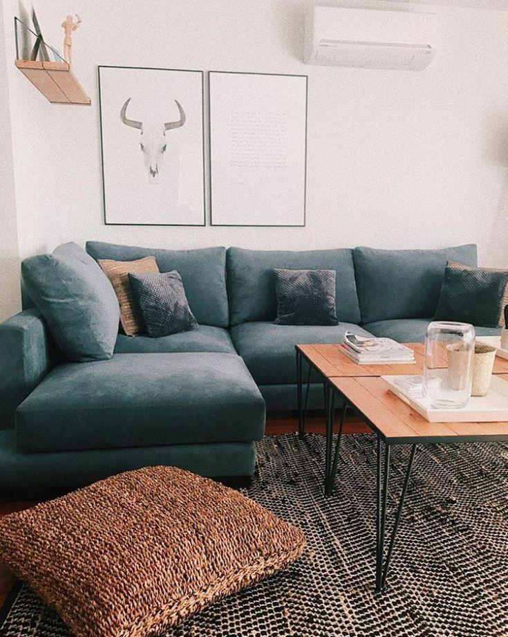 Fett, Boho, aber minimales Wohnzimmer Styling