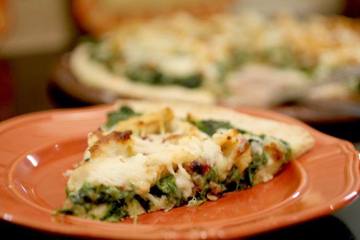 White Chicken & Spinach Pizza 3
