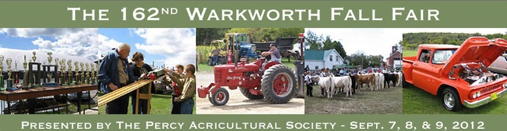 Warkworth Fall Fair - Featuring 4-H Beef shows, elimination car draw, Truck Show and Shine, Classic Car Show, amateur platform show, home-craft exhibits, demolition derby, and Truck and Tractor Pulls. Percy Fairgrounds, Warkworth Ontario. www.warkworthfair.com