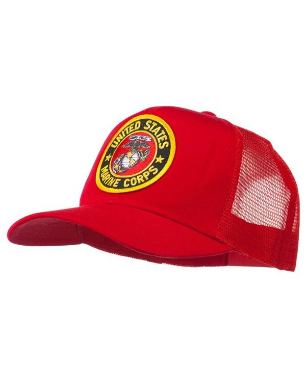5424beddc08b1 Round US Marine Corps Patched Mesh Cap Red CV11RNPOFVH - Hats   Caps ...