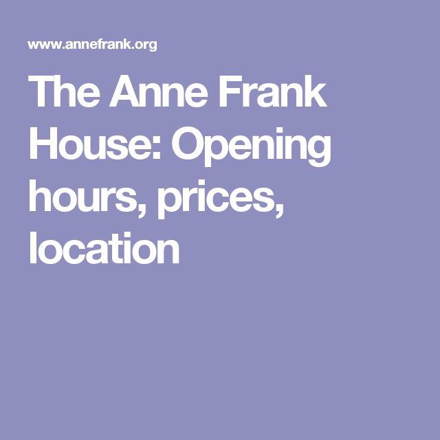 ann frank house hours