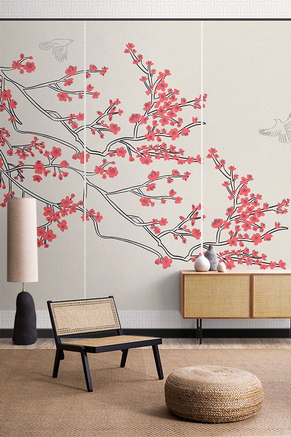 4 Tips For Decorating With Japanese Style Wallpaper Muralswallpaper In 2021 Japanese Decor Japanese Home Decor Japanese Inspired Bedroom