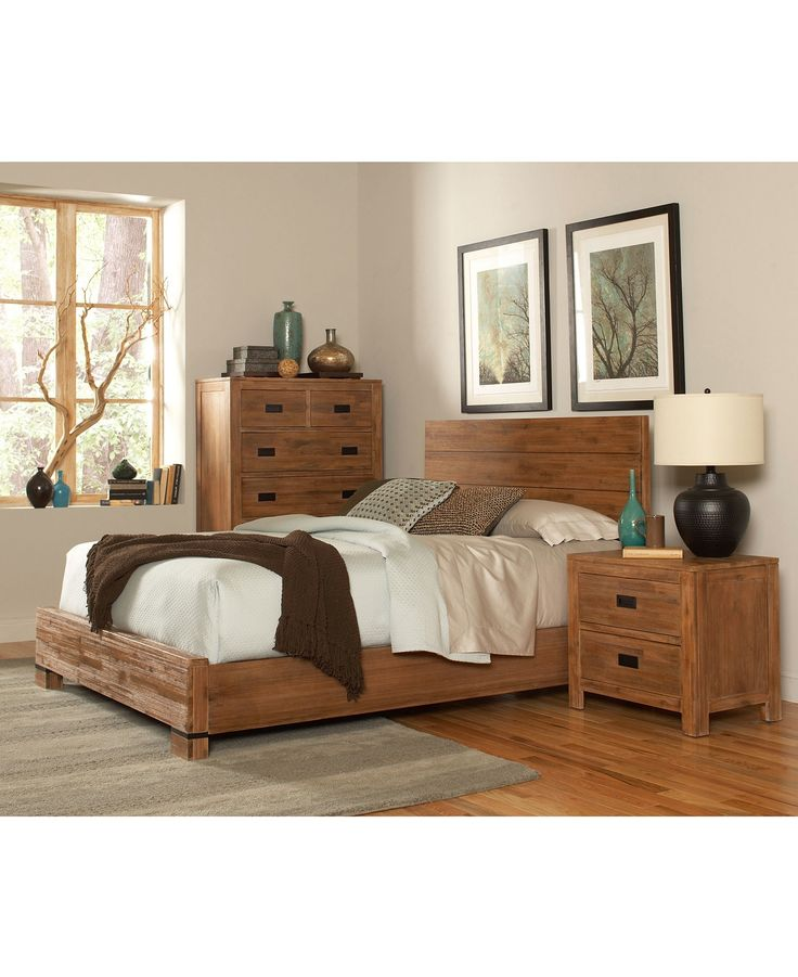 Champagne Bedroom Furniture Queen 3 Piece Set Bed Chest