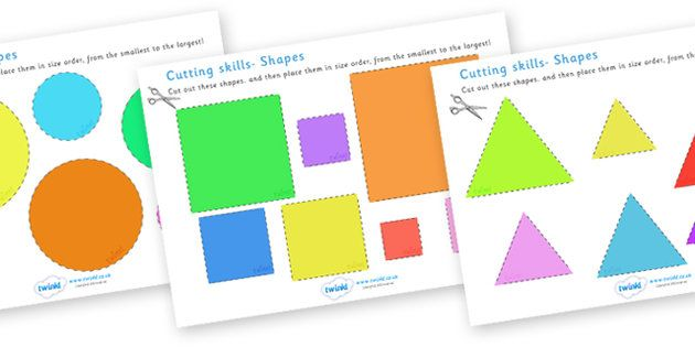 cutting skills worksheets size shape ordering education recortar scissor skills. Black Bedroom Furniture Sets. Home Design Ideas