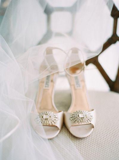 Badgley Mischka: http://www.stylemepretty.com/little-black-book-blog/2015/07/16/elegant-orange-navy-carlouel-yacht-club-wedding/ | Photography: Jacqui Cole - http://jacquicole.com/