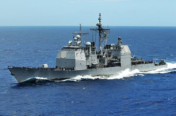 Ticonderoga-class guided-missile cruiser USS Cape St. George (CG 71)