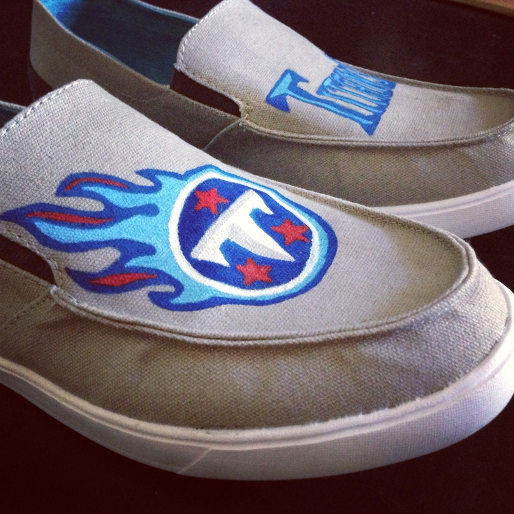 Tennessee Titan hand painted shoes