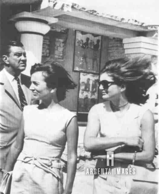October 9, 1963: Jackie on Crete, with Lee.