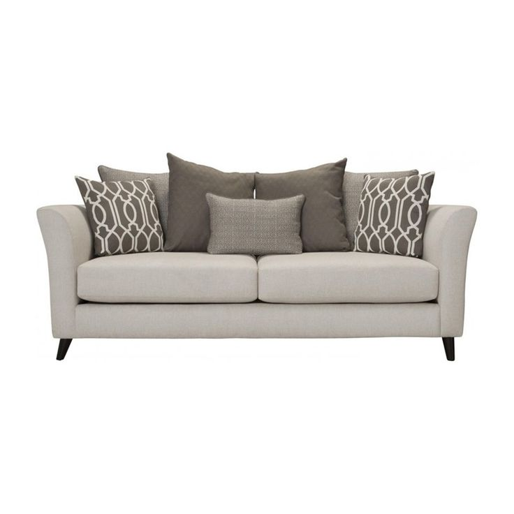 Mid Century Modern Arms And Legs Accent This Classic Neutral Sofa With  Cute, Patterned