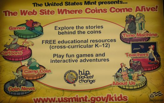 Only the Mint can make money look cheap. This hideous ad takes something with real value and tries to make it relevant to kids and teachers.
