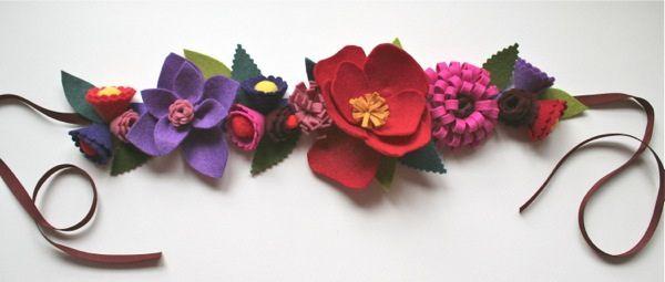 felt flower crown by mmmcrafts, via Flickr