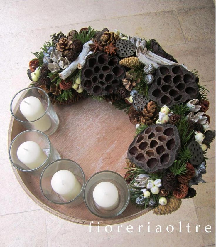 Fioreria Oltre/ Rustic Christmas/ Contemporary advent wreath