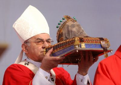 pope with skull