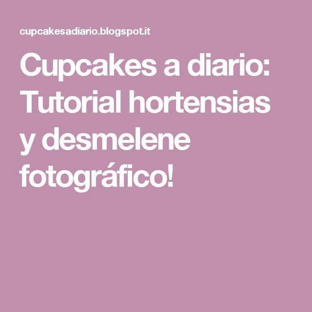 Cupcakes a diario: Tutorial hortensias y desmelene fotográfico!