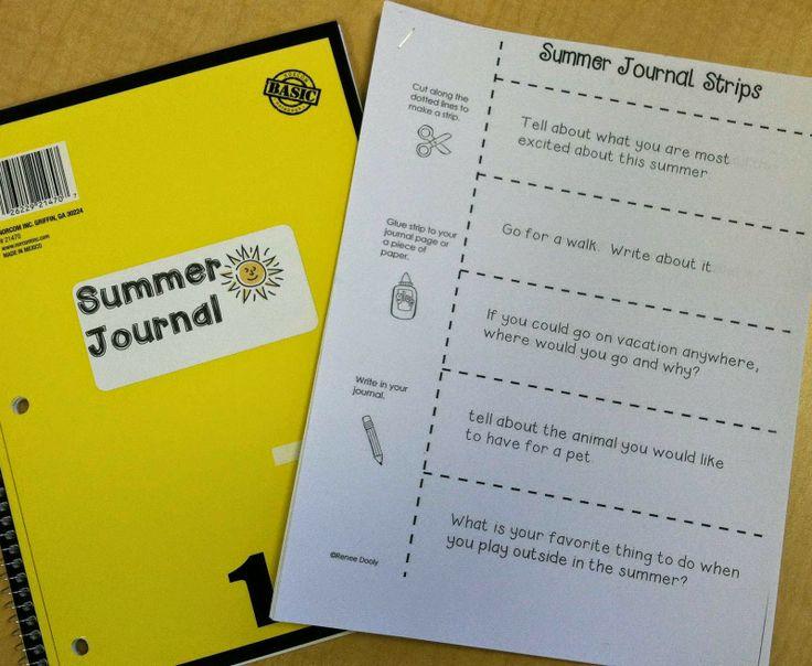 Summer just around the corner summer journaling strips fantastic first grade froggies - Writing corner ideas ...