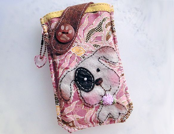 Sweet Batik Puppy  Mobile Phone Pouch-Samsung-HTC from Lily's Handmade - Desire 2 Handmade Gifts, Bags, Charms, Pouches, Cases, Purses by DaWanda.com