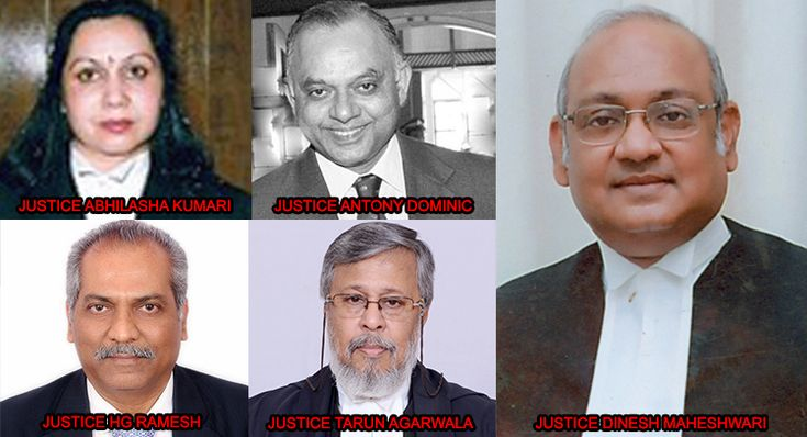 New Chief Justices appointment for five High Courts