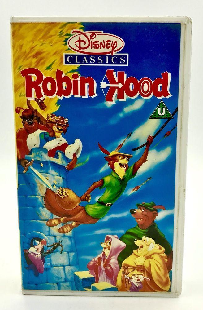 Disney Classics Robin Hood Vhs Video Tape Pal Uk Rare Cover Animation Vgc Kids Classic Disney Robin Hood Video Tapes
