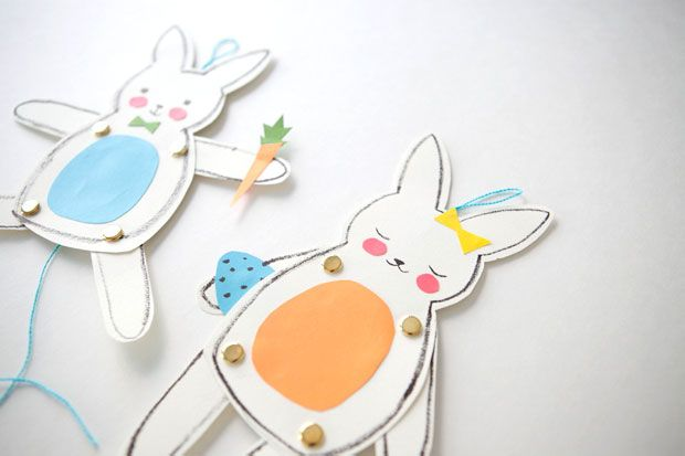 free template Easter bunny