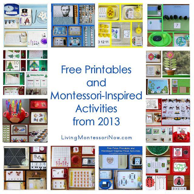 Montessori Monday - Free Printables and Montessori-Inspired Activities from 2013 | LivingMontessoriNow.com