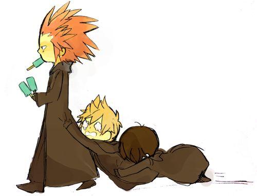 Axel, Roxas & Xion Kingdom Hearts 358 / 2 Days