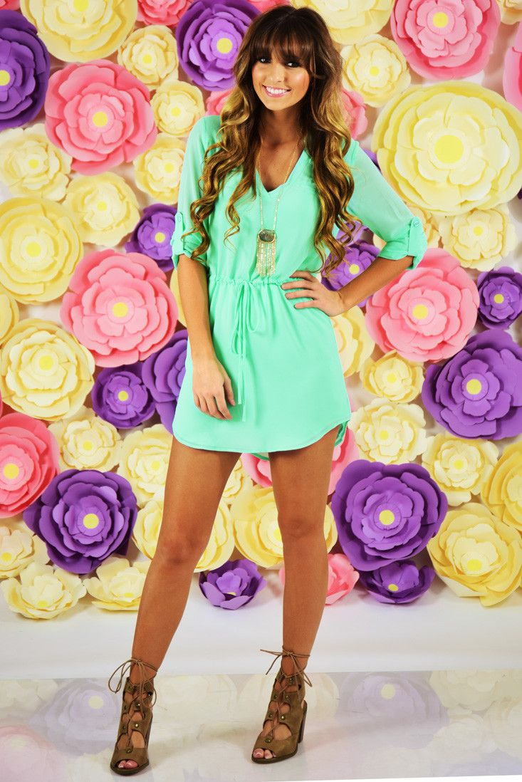 RESTOCK: Dressed Like A Daydream Dress: Seafoam #shophopes
