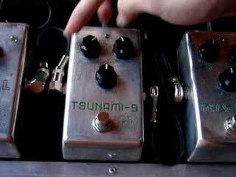 Pedal de overdrive Tsunami-9 (Efectos Cluster)