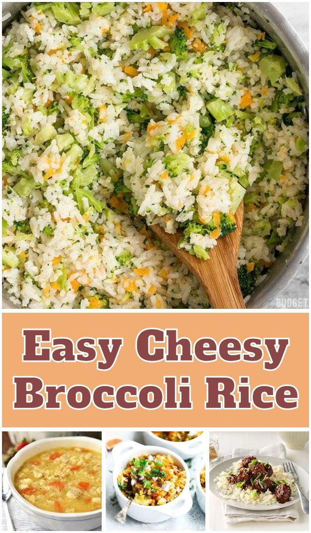 Easy Cheesy Broccoli Rice  This savory Yellow Jasmine Rice combines