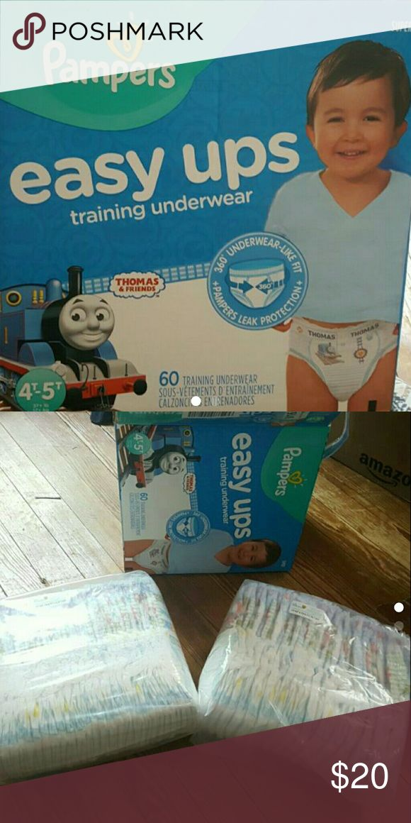 Pampers easy ups 4t-5t Thomas the train Box of easy ups. 4t-5t. Thomas the train design. Came with 60, 45 left in box. Pampers Other