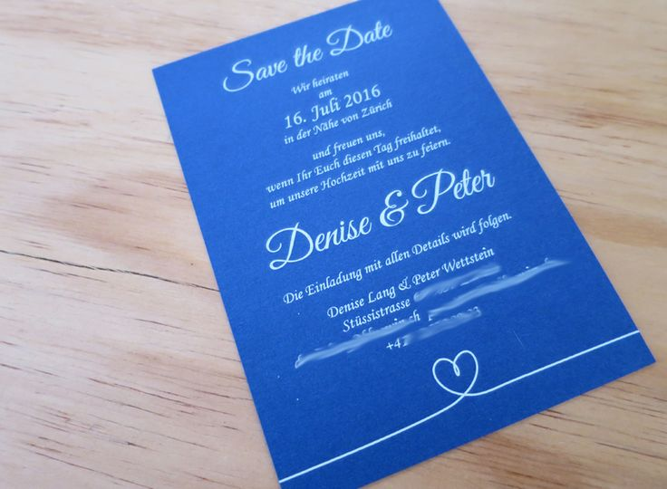 Denise & Peter Save The Date