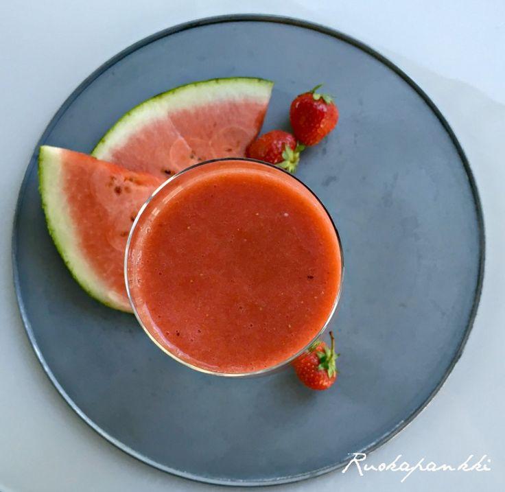 Ruokapankki: Raikas vesimelonismoothie on kuin karkkia