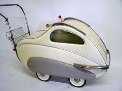 So cool! - 1950s Giordani Bambino  baby carriage - (mid century modern, space age, atomic era, design, pram)